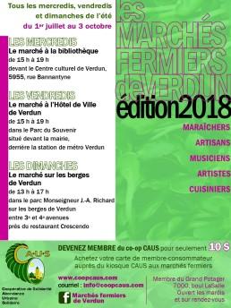 Marché fermier postcard 2018 back