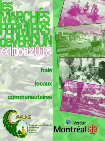 Marché fermier postcard 2018 front